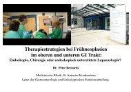 Therapiestrategien bei Frühneoplasien - Kooperationsstrategien