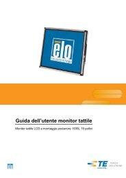 Guida dell'utente monitor tattile - Elo TouchSystems