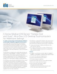 "(CM-Series) ""Fanless Cool and Quiet"" - Elo Touch Solutions"