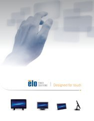 Designed for touch - Elo Touch Solutions