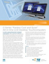 "C-Series ""Fanless Cool and Quiet"" - Elo Touch Solutions"