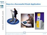 Keys to a Successful Kiosk Application - Elo TouchSystems