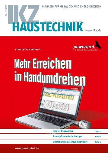MAGAZIN FÜR GEBÄUDE- UND ENERGIETECHNIK www.ikz.de