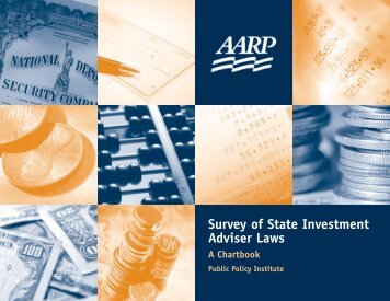 Survey of State Investment Adviser Laws: A Chartbook - Aarp