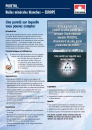 PuretolMC Huiles minérales blanches – euroPe ... - Petro-Canada