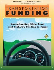 Understanding State Road and Highway Funding in Texas