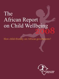 The African Report on Child Wellbeing - Save the Children Sweden's