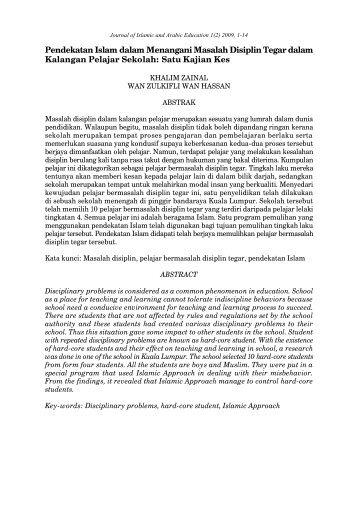 Pendekatan Islam dalam Menangani Masalah Disiplin Tegar dalam ...