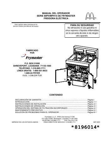 8196014 - Frymaster