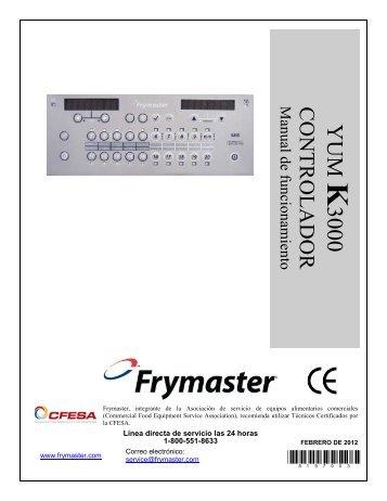 RE Series IO Manual - Frymaster