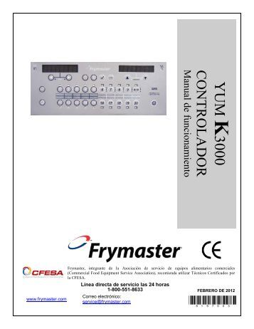 RE Series IO Manual - Frymaster