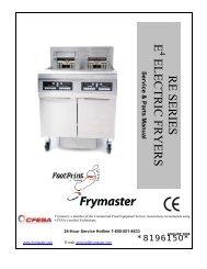 Frymaster 823-2717 Tray Chute