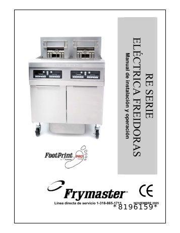 Línea directa de servicio 1-318-865-1711 - Frymaster
