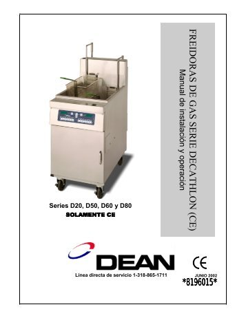freidoras de gas serie decathlon (ce) - Frymaster