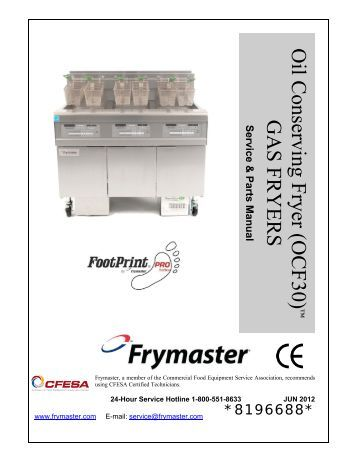 pro h50 55 series gas fryers service and parts manual frymaster oil conserving fryer ocf30 frymaster
