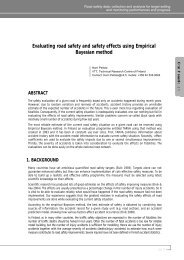 Evaluating road safety and safety effects using Empirical Bayesian ...
