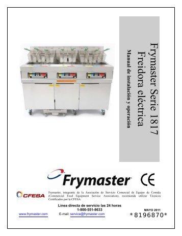 Frymaster Serie 1817 Freidora eléctrica