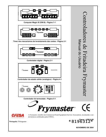 Controladores de Fritadeira Frymaster Manual do Usuário