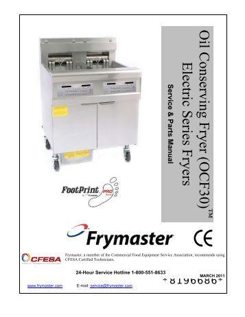 h14 h17 h22 series electric fryers frymaster oil conserving fryer ocf30 frymaster