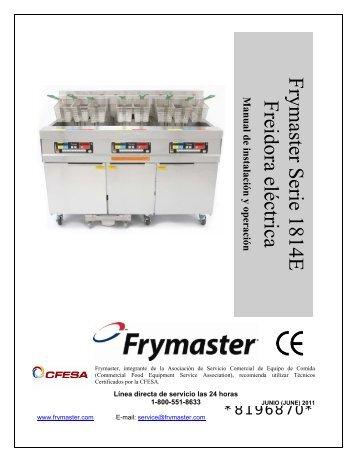 Frymaster Serie 1814E Freidora eléctrica