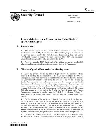 Security Council - Ministry of Foreign Affairs