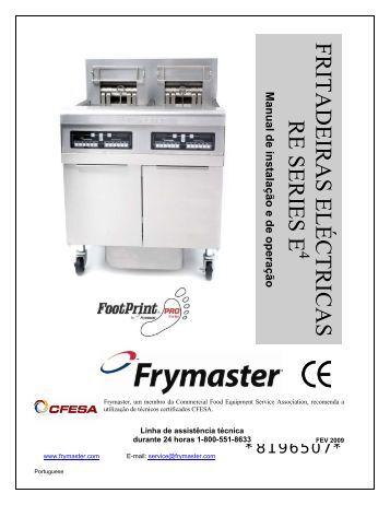FRITADEIRAS ELÉCTRICAS RE SERIES E4 - Frymaster