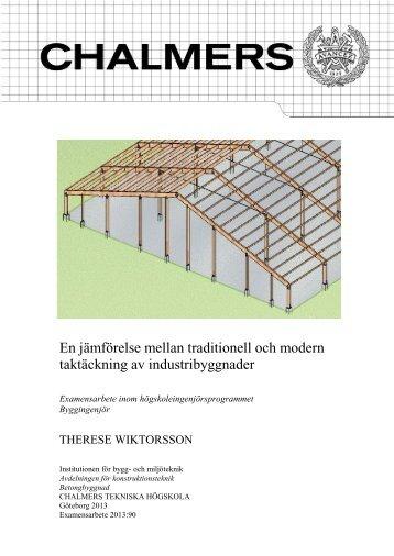 En jämförelse mellan traditionell och modern taktäckning av ...