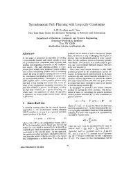 Nonholonomic path planning with inequality constraints - Robotics ...