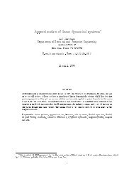 Approximation of linear dynamical systems*