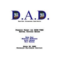 Progress Report for ECSE-4460 Control Systems Design