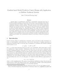 Gradient-based Model Predictive Control Design with Application to ...