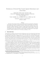 Robustness of Network Flow Control Against Disturbances and Time ...