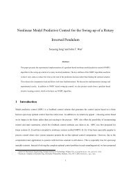 Nonlinear Model Predictive Control for the Swing-up of a Rotary ...