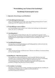 Aarau, Kantonsspital, Abteilung Kardiologie - FMH