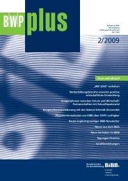 BWPplus 2/2009 - BiBB