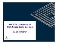 Post-CAD Validation of High-Speed Serial Designs