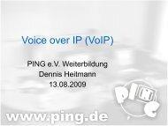 Voice over IP (VoIP) - beim PING eV