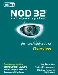 Remote Administrator Overview - Eset