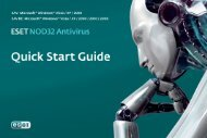Quick Start Guide - Eset