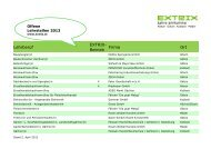 EXTRITX - Offene Lehrstellen 2013 - Stand 2. April 2013