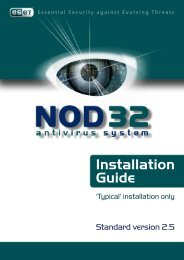 Typical Installation Guide - Eset