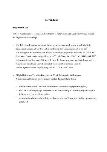 Begründung - MULV Hessen