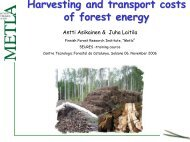 Harvesting and transport costs of forest energy, Pdf-material