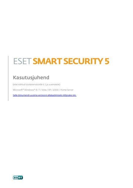 caae5060cac 1. ESET Smart Security
