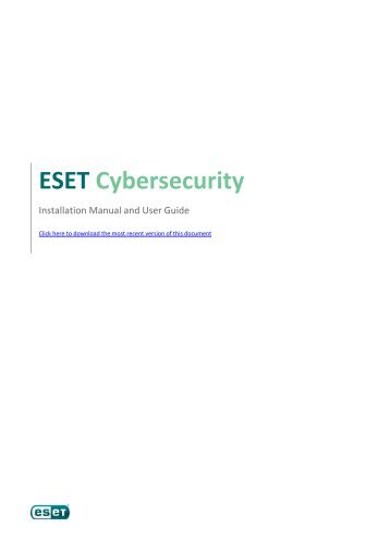 to download the most recent version of this document - Eset