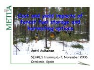 Cost and yield impacts of forest fuel storage and harvesting options