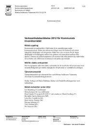 Verksamhetsberättelse 2012 för Kommunala invandrarrådet