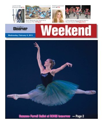 Suzanne Farrell Ballet at ROHM tomorrow — Page 2 - Oman Daily ...