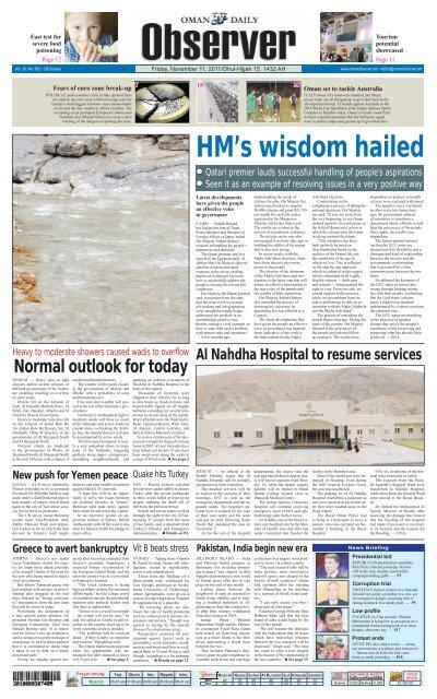 Observer 11 Nov 2011 Oman Observer