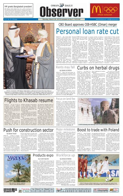 Observer & Busness 26 March 2012 - Oman Observer